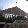 Setting gable end in place.