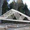 Setting trusses in place.